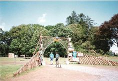 Ballyfin jamboree 1993 - Strangford Subcamp gate built by Barry Hearns!