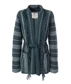 Lexington Clothing Company Fall Collection 2016, Women. Rory Knitted Jacket in a trendy Ikat print.