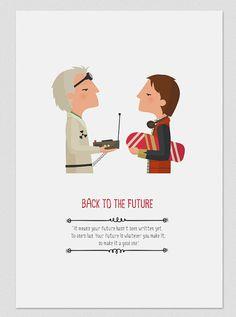 Illustration. Back to the future. Based on the door Tutticonfetti