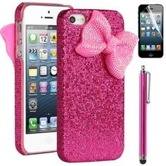 Pandamimi ULAK(TM) Sweety Girls Hot Pink Bling Case Cover Decorated Cute Baby Pink Shining Butterfly Dreamlike Princess Style for iPhone 5 + Stylus + Screen Protector by ULAK, http://www.amazon.com/dp/B00CE5MZQQ/ref=cm_sw_r_pi_dp_817Brb1S41XPA