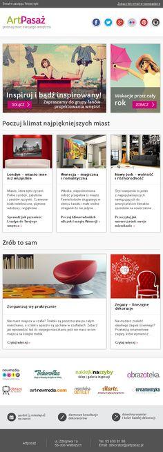 Poczuj klimat najpiękniejszych miast. Projekt newslettera przygotowany dla ArtPasaz.pl - https://panel.sendingo.pl/kampania/5p8 / #newsletter #email #mailing #ecommerce #design #template