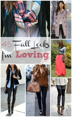 45 Fall Looks I'm Loving from http://ThisSillyGirlsLife.com #Fall #Outfit #FallLooks #RoundUp Pinned over 522K times!