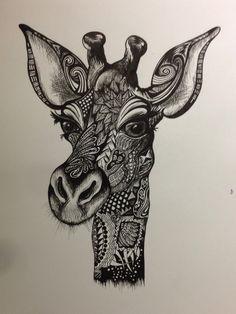 Giraffe doodle http://www.pinterest.com/ldseacord/ lovin' this pin