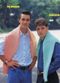 Yes.  Wesley Crusher and Samwise Gamgee in amazing pastel sweaters in Japan.  Thank you internet.