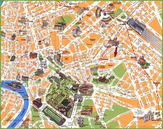 Rome travel map