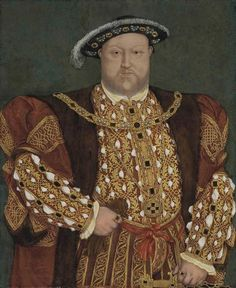 Circle of Hans Holbein II (1497-1543) Portrait of King Henry VIII (87,6 x 73 cm)