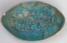 Bowl; 12th - 13th century Iran. Earthenware: glazed. Metropolitan Museum of Art.