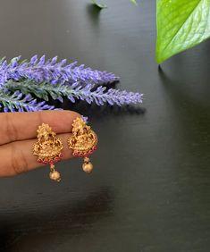 Antique Gold finished small Lakshmi devi stud Earrings / Statement earrings / Temple Earrings / stud earrings Peacock Earrings, Jhumki Earrings, Bridal Earrings, Etsy Earrings, Antique Gold, Antique Jewelry, Imitation Jewelry, Temple Jewellery, Chandelier Earrings