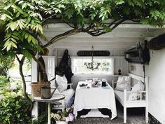 DREAM. Wouldn't mind a country home with a shack I could do up like this.