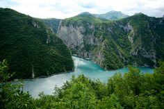View on Boka Kotorska Bay from the mountains