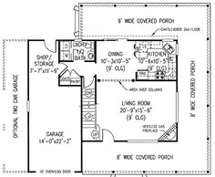 Efficient Floor Plan - 6517RF | 2nd Floor Master Suite, CAD Available, Country, Farmhouse, Jack & Jill Bath, PDF, Wrap Around Porch | Architectural Designs