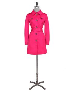 New purchase. Not really a pink kind of girl, but this fresh looking trench will be perfect for the summer