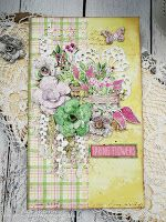 Easter Card Fabrika Decoru: Spring Blossom paper collection.