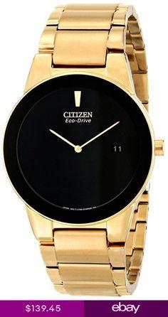 5b7ed8d508778 Citizen Men s AU1062-56E Axiom Analog Display Japanese Quartz Gold ...