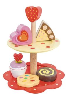 Her wooden kitchen is her favorite playtime activity and every little girl needs a selection of cakes and treats at their pretend tea party!  #EntropyWishList  #PinToWin   Le Toy Van - Honeybake Two Tier Cake Stand 3