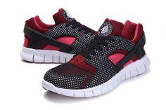 418a9b51032d3 Nike Huarache Free 2012 Runs Black Red Mahogany Scarlet Fire Free Running  Shoes
