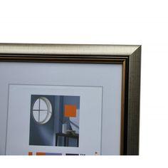Exiram - Dřevěný rám Ildiko stříbrný 50x70