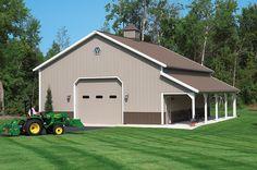 Morton Buildings garage in Attica, Michigan.