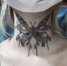 Kritzelei Tattoo, Tattoo Hals, Poke Tattoo, Piercing Tattoo, Tattoo Drawings, Elven Tattoo, Underboob Tattoo, Dainty Tattoos, Pretty Tattoos