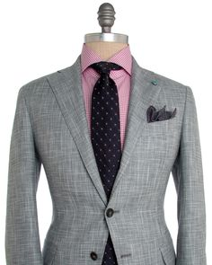 Eidos Napoli | Grey Hopsack Suit | ApparelShak/ Contemporary | Men's