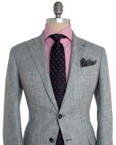 Eidos Napoli   Grey Hopsack Suit   ApparelShak/ Contemporary   Men's