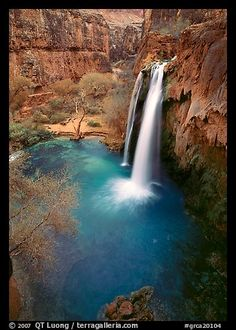 Havasu Falls, Havasu Canyon. Grand Canyon National Park, Arizona