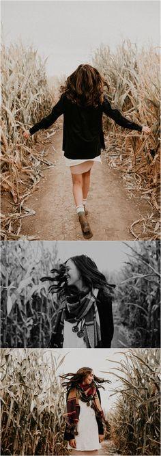 Boise Senior Photographer // Makayla Madden Photography // Idaho Farmstead // Corn Maze // Fall Senior Outfit Ideas Inspiration // Pumpkin Patch // Senior Photography // Senior Pictures // Senior Girl // Fall Aesthetic // Posing Ideas // Fall Portraits //