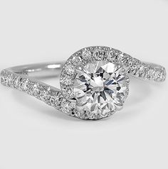 A glamorous and whimsical engagement ring.