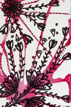Floral Rosa - Background e Wallpaper criados por Carol Delleteze. Desenhos originais, únicos, feitos a mão disponíveis para download.  #caroldelleteze #background #wallpaper #desenholudico #arte #art #handmade #illustration #pattern #floral #flores #flower #rosa