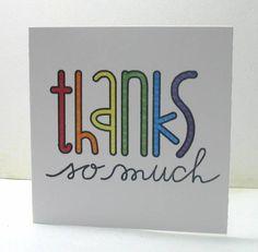Mini Thank You Notes