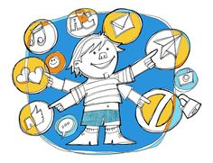 Ilustraciones para la revista Europa Junta, artículo sobre la seguridad en internet
