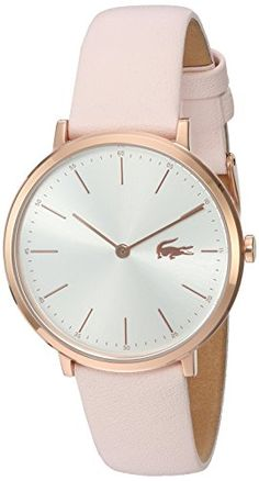 Lacoste Womens Quartz Gold and Leather Automatic Watch ColorPink Model 2000948 >>> Click on the image for additional details.Note:It is affiliate link to Amazon.