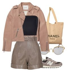 """""""Untitled #90"""" by rich-princesa ❤ liked on Polyvore featuring Jean-Paul Gaultier, Chanel, New Balance, Maje, Carven and Monique Lhuillier"""