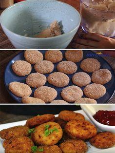 Fazer nuggets é muito fácil. Além de ficarem deliciosos eles são mais saudáveis, porque você sabe exatamente os ingredientes que está utilizando. Eu fiz a receita bem básica, mas você pode incremen…