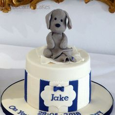 Christening Cake for Jake. Yummy Cakes, How To Make Cake, Christening, Cake Toppers, Toy, Create, Sweet, Design, Candy