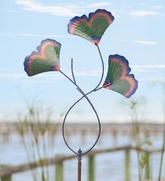Recycled Metal #Gingko #Leaves Garden #Wind #Spinner