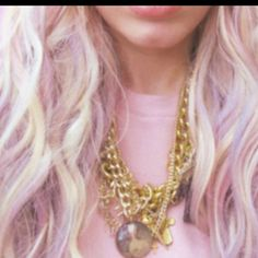 Blonde with lilac undertone - wish I had the lady balls & the disposable income to do this