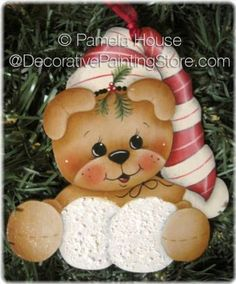 Snowball Bear Ornament-Magnet by Pamela House - PDF DOWNLOAD