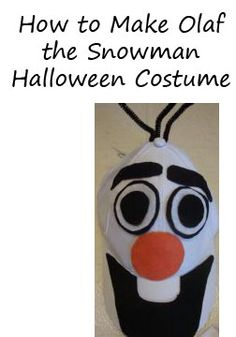 How to Make an Olaf the Snowman Halloween Costume #olaf #halloween #costume @frozenfans