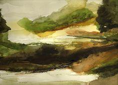Abstract Watercolor Landscape by nkimadams, via Flickr