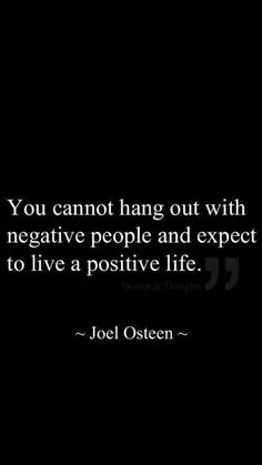 Joel Osteen  Very simple concept, yet we all seem to dismiss it.........