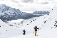"""Ski Touring on the Lofoten Islands - Backcountry ski touring on the Lofoten islands, Norway. Image available for licensing. See more of my work here: <a href=""""http://www.oberschneider.com"""">oberschneider.com</a> Facebook: <a href=""""http://www.facebook.com/Christoph.Oberschneider.Photography"""">Christoph Oberschneider Photography</a> follow me on <a href=""""http://instagram.com/coberschneider"""">Instagram</a>"""