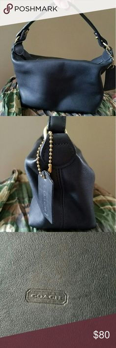 Vintage Coach mini bag Black leather Coach. It was my first years ago!! Very clean. Coach Bags Mini Bags