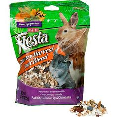 Kaytee Fiesta Country Harvest Blend Rabbit, Guinea Pig and Chinchilla Treat. I will have to get this for our bunny - looks like something he would enjoy!