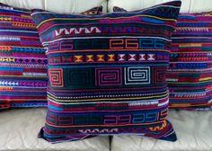 20 Colorful Akha Tribal Embroidery on Black