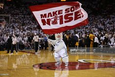 The Miami Heat mascot performs against the Indiana Pacers in Game Seven of the Eastern Conference Finals on June 3, 2013 at American Airlines Arena in Miami, Florida.