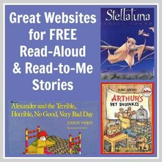 Great Websites that have FREE Read-Aloud and Read-to-Me stories for kids! listen to reading Kids Reading, Reading Activities, Teaching Reading, Reading Hut, Sequencing Activities, Reading Stories, Student Reading, Stem Activities, Teaching Tips