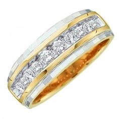 Share and get $20 off your order of $100 or more. 0.25 Carat (ctw) 10K Yellow Gold Brilliant Round White Diamond Men's Wedding Anniversary Band 1/4 CT - Dazzling Rock #https://www.pinterest.com/dazzlingrock/