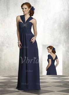 Mother of the Bride Dresses - $169.99 - Empire Sweetheart Floor-Length Chiffon Charmeuse Mother of the Bride Dress With Beading (00805007330)