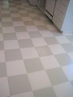 black & white tile checkered floors are always in fashion!! start